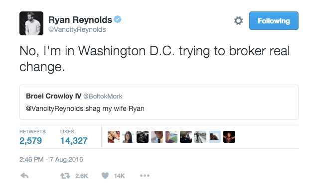 Ryan Reynolds Replies To HORNY Tweets And Its HILARIOUS - Ryan reynolds politely responds to fans dirty tweets and its just hilarious
