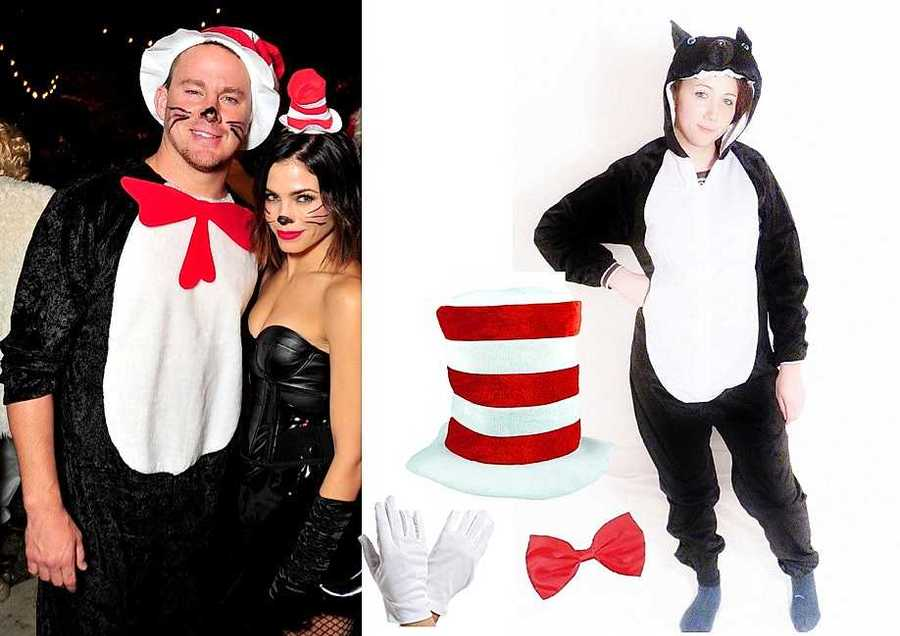 13 last minute celebrity inspired halloween outfits to diy style channing tatum as the cat in the hat solutioingenieria Images