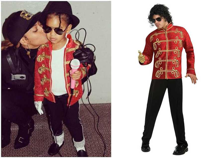 13 last minute celebrity inspired halloween outfits to diy style blue ivy as michael jackson at the 11th annual american music awards solutioingenieria Choice Image