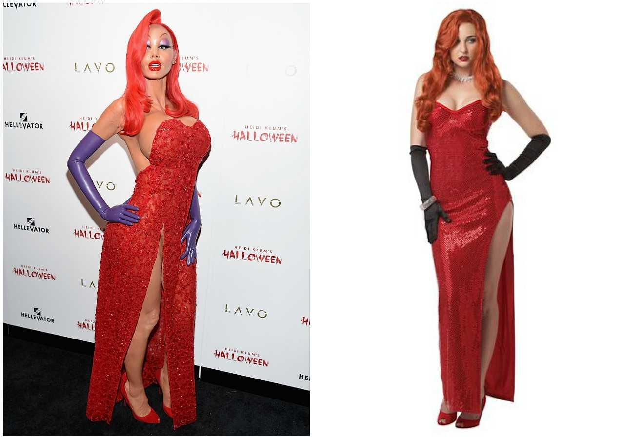 Heidi Klum as Jessica Rabbit from Who Framed Roger Rabbit  sc 1 st  Heat magazine & 13 last-minute celebrity-inspired Halloween outfits to DIY | Style ...