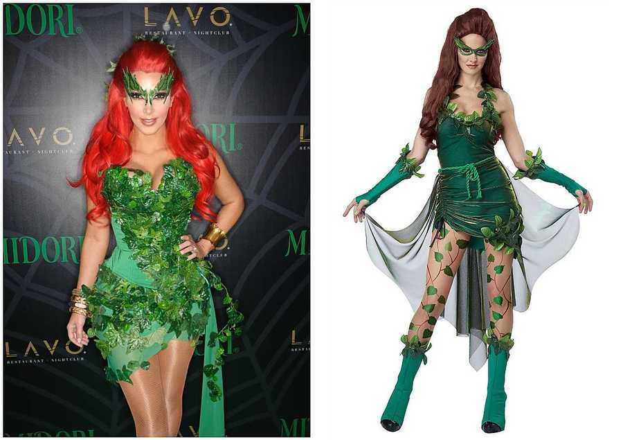 13 last minute celebrity inspired halloween outfits to diy style kim kardashian as poison ivy from batman robin solutioingenieria Image collections