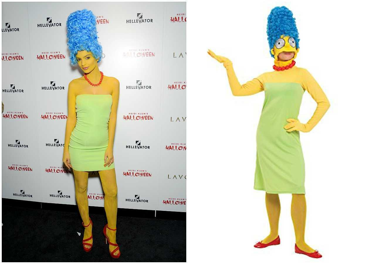 Emily Ratajkowski as Marge Simpson from The Simpsons  sc 1 st  Heat Magazine & 13 last-minute celebrity-inspired Halloween outfits to DIY | Style ...