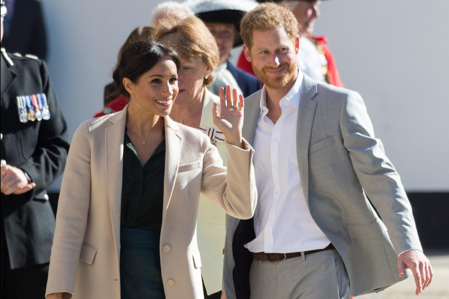 Prince Harry and Meghan Markle make it rain in drought
