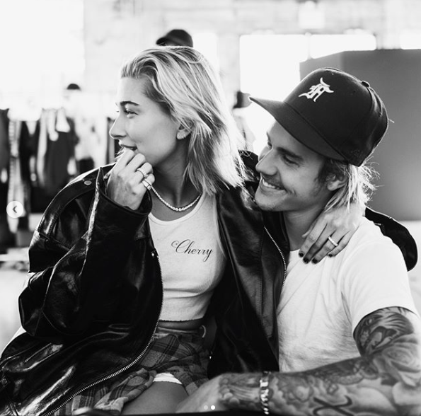 Justin and Hailey Bieber celebrate their new 'Christmas baby'